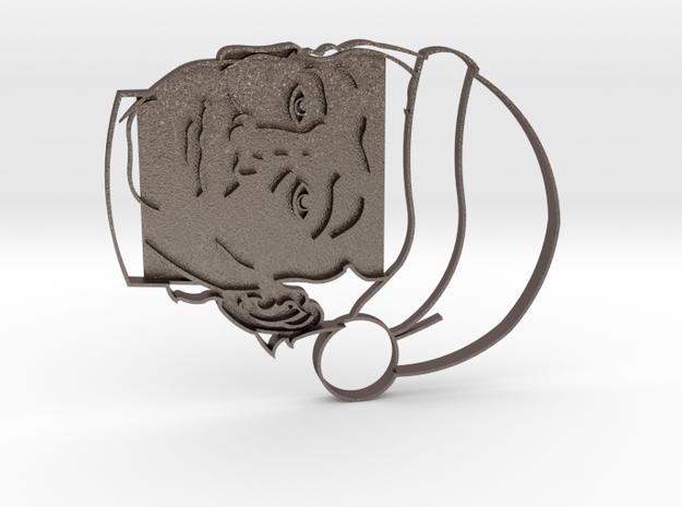 Murray Christmas Cookie Cutter in Polished Bronzed Silver Steel