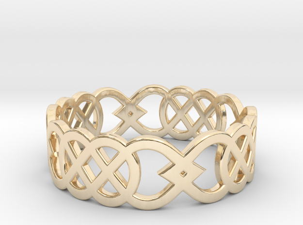 Size 9 Knot C3 in 14k Gold Plated Brass