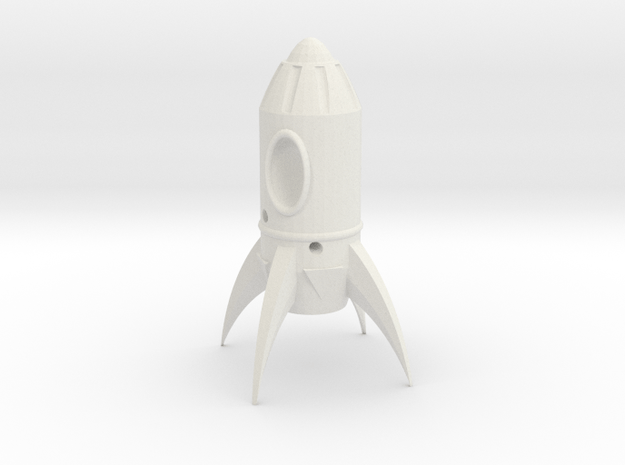 Fallout Rocket Keyring (In-Game) in White Natural Versatile Plastic