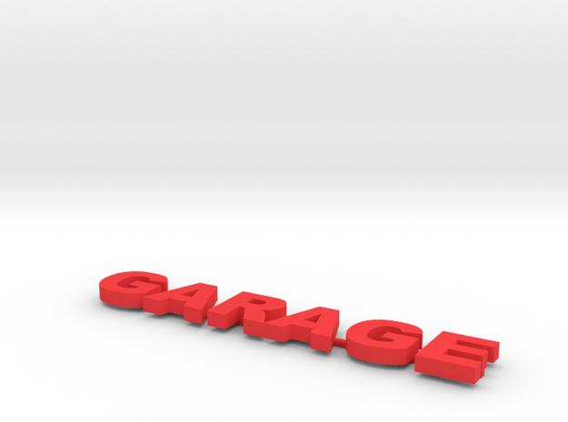 Garage Sign 1/24 Scale in White Processed Versatile Plastic