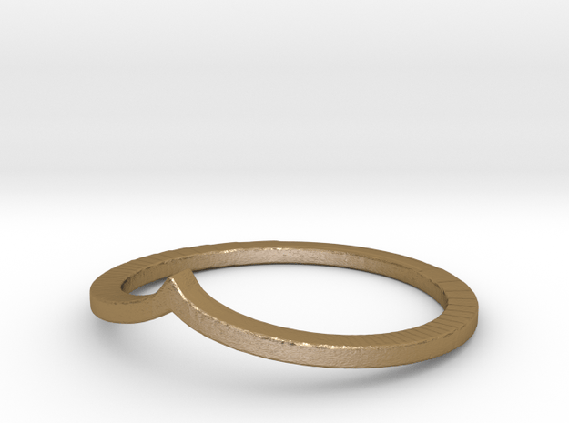 Arrow Stacking Ring in Polished Gold Steel
