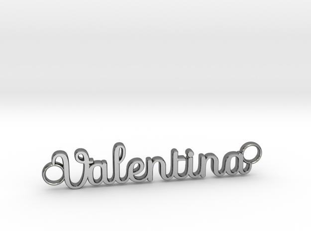 Valentina Name Necklace / Pendant in Polished Silver