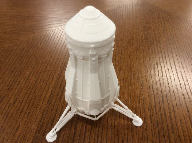 1/144 NASA/JPL ARES MARS ASCENT VEHICLE - COMPLETE in White Natural Versatile Plastic