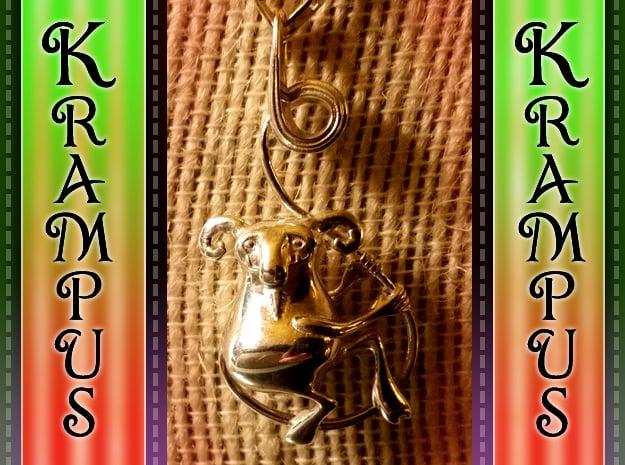 Krampus Pendant in Polished Silver