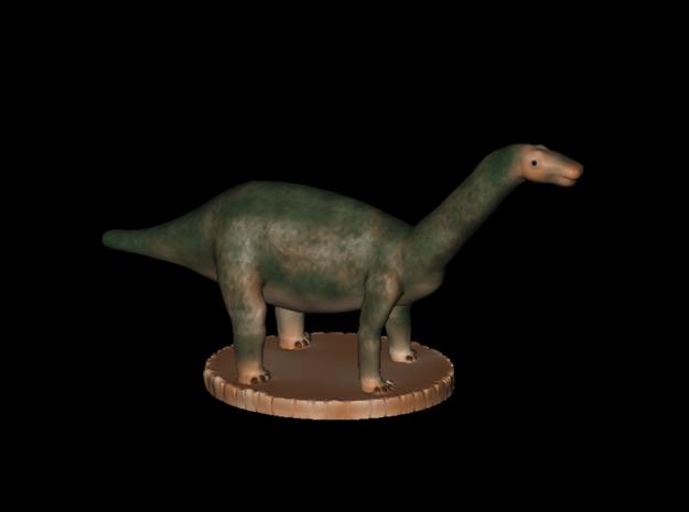 Miniature Apatosaurus Dark Green Full Color in Full Color Sandstone