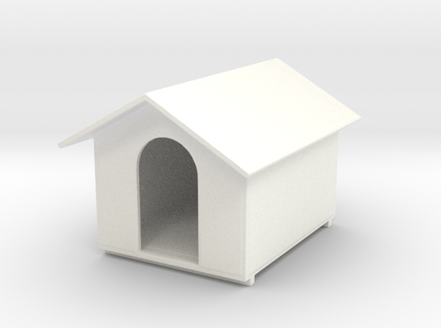 Hundehütte  in White Processed Versatile Plastic