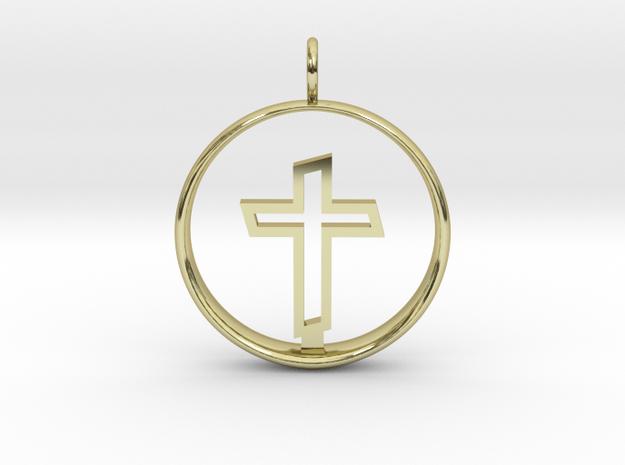 Cross Pendant 2 - (Medium) in 18K Gold Plated