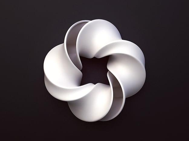 Mobious in White Processed Versatile Plastic