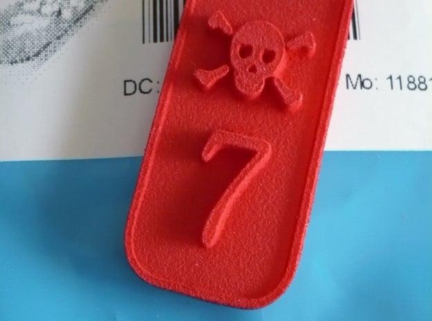 CISKY keychain 6cm Lunghezza in White Natural Versatile Plastic