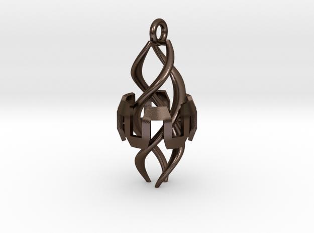 Ingress Resonator Pendant ( 2.25 inch) in Polished Bronze Steel