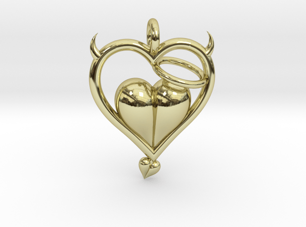 Devil Outside Angel Inside in 18k Gold Plated Brass