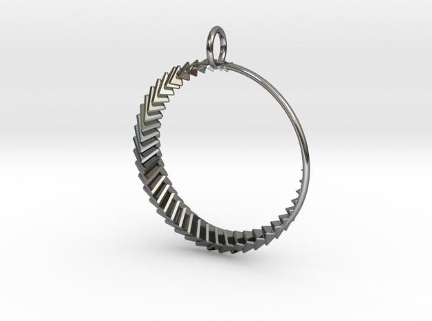 Luna 2 Pendant in Fine Detail Polished Silver