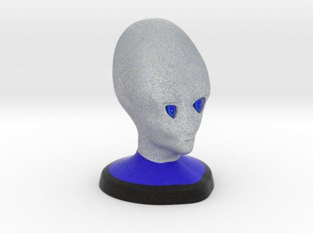 Alien Bust in Full Color Sandstone