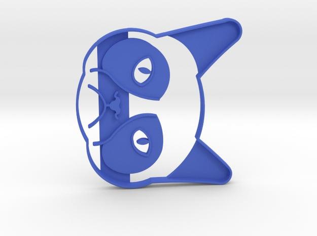 Grumpy Cat Cookie Cutter in Blue Processed Versatile Plastic