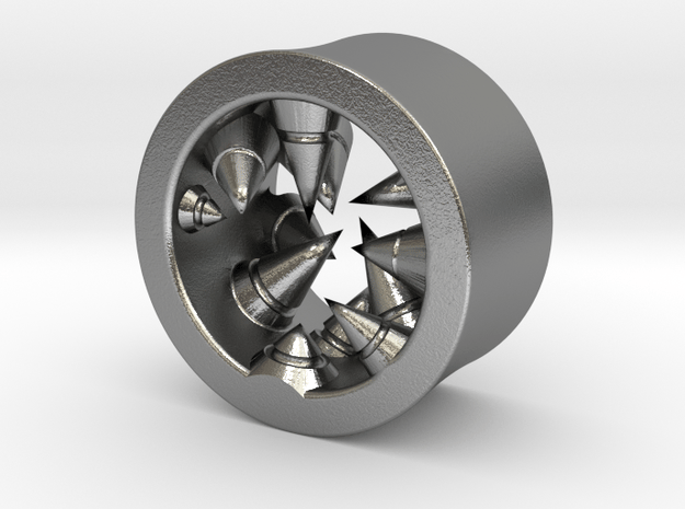 Géode cristalline (diam 10mm) in Natural Silver