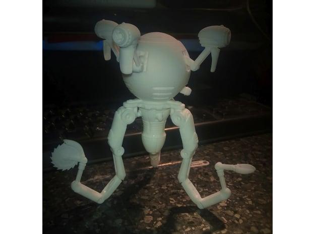 Mr. Handy Robot Large in White Natural Versatile Plastic