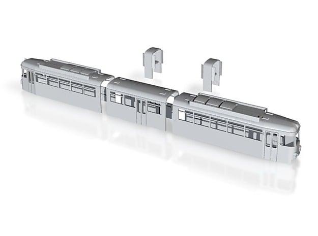 OEG GT8 Rastatt 80 mit Bustüren kompl. Gehäusesatz in White Natural Versatile Plastic
