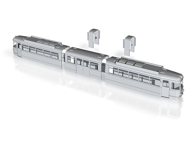 OEG GT8 Rastatt 80 Auslieferung kompl. Gehäusesatz in White Natural Versatile Plastic