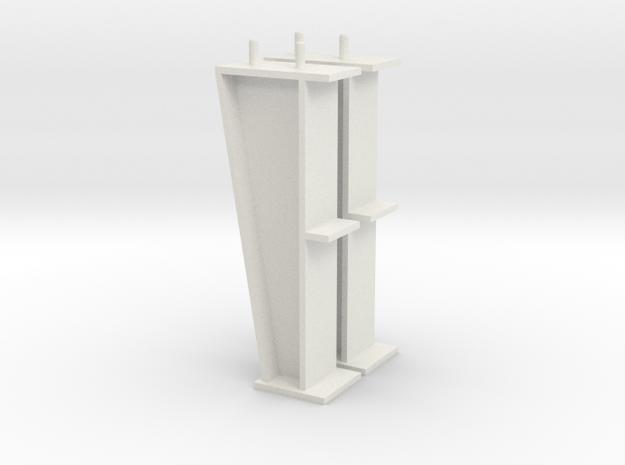 1/64 10' I-beam Post in White Natural Versatile Plastic