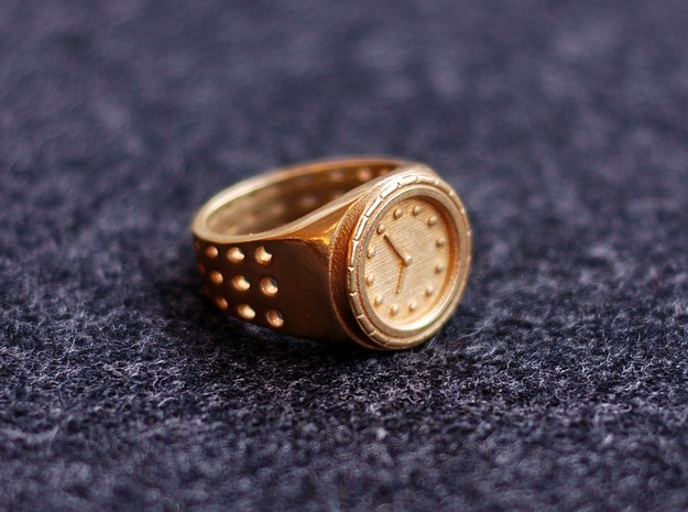 Watch Rings in Polished Brass: 7 / 54