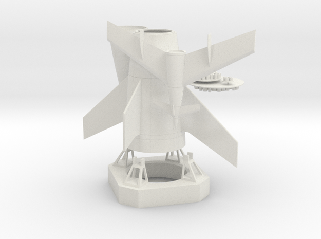 1/350 VON BRAUN MOON ROCKET W/ LAUNCH PAD in White Natural Versatile Plastic
