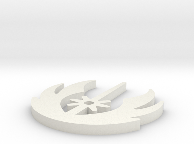 JediOrder V3 in White Natural Versatile Plastic
