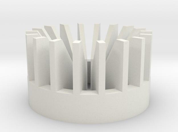 Radiator V4 in White Natural Versatile Plastic