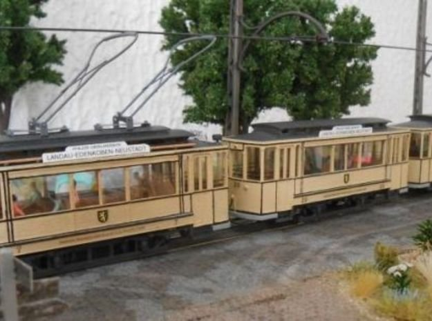 (H0m) - Herbrand Triebwagen mit Lyrabügeln
