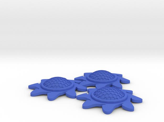 X-Wing Stackable Shield Token 3 Pack (Starburst) in Blue Processed Versatile Plastic