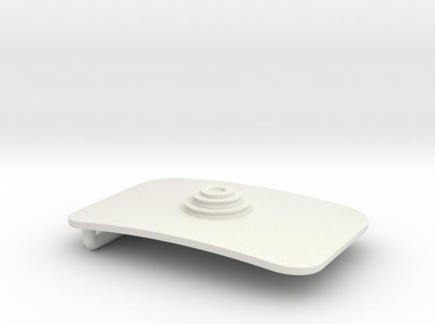 Crew Belt Buckle in White Natural Versatile Plastic