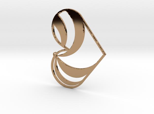 Heart Swirl in Polished Brass