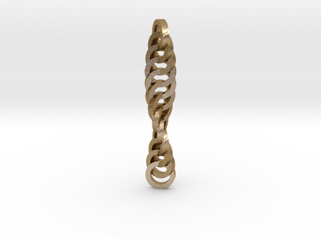 Twisted Pendant in Polished Gold Steel
