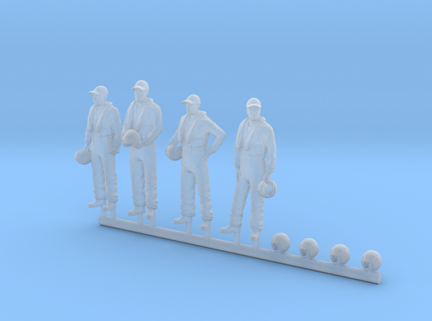 72-H0080: Crew for Grumman Tracker in 1:72 scale in Smooth Fine Detail Plastic