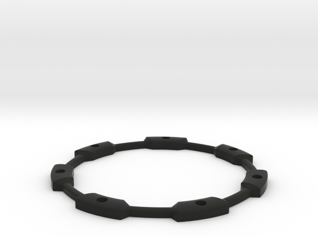 Spinning Top Set Stand in Black Natural Versatile Plastic