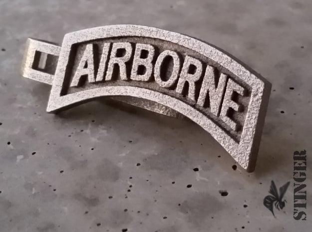 Airborne Tab Tie Bar in Polished Nickel Steel