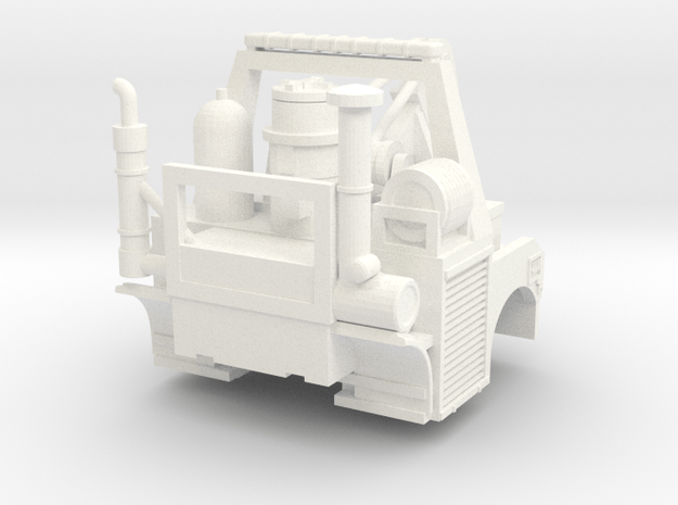 1/87 Tunnel Wrecker 30 Ton Weldbuilt Body only in White Processed Versatile Plastic