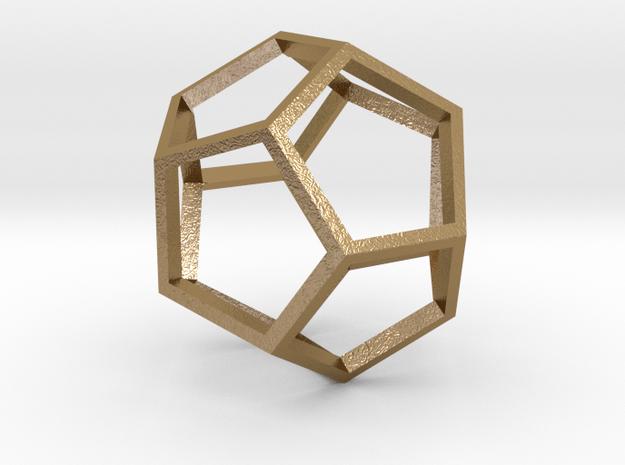 Pentagon Pendant in Polished Gold Steel