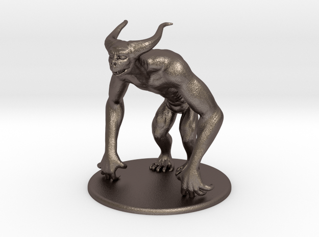 MTI monster 01 in Polished Bronzed Silver Steel