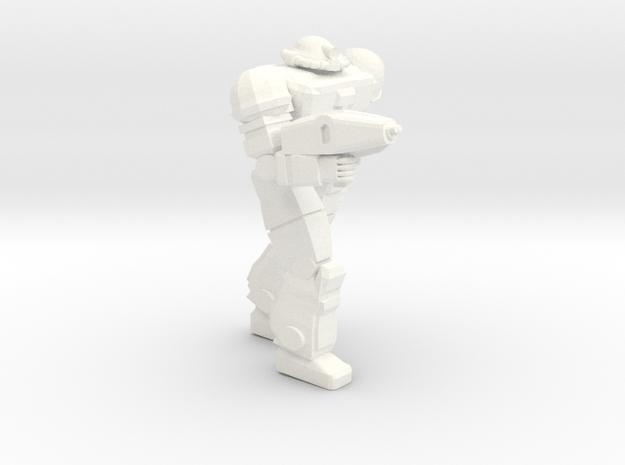 Viking Pose 1 in White Processed Versatile Plastic