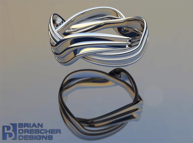 Turban Roll - Ring in Natural Silver (Interlocking Parts)