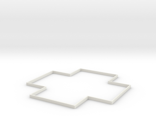 Area Effect Template - 10 foot radius circle in White Natural Versatile Plastic