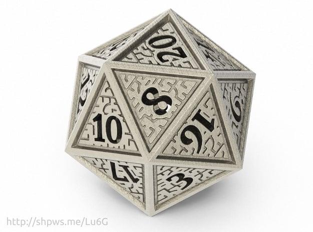 Hedron D20 (Hollow), balanced gaming die