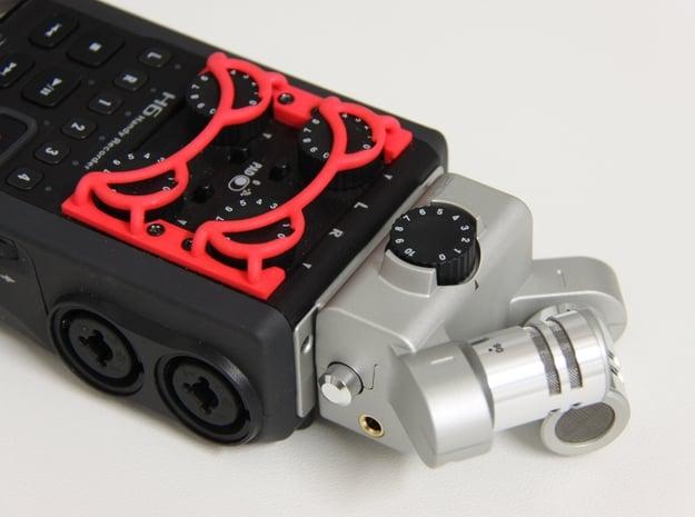 ZOOM H6 gain control cover in Red Processed Versatile Plastic