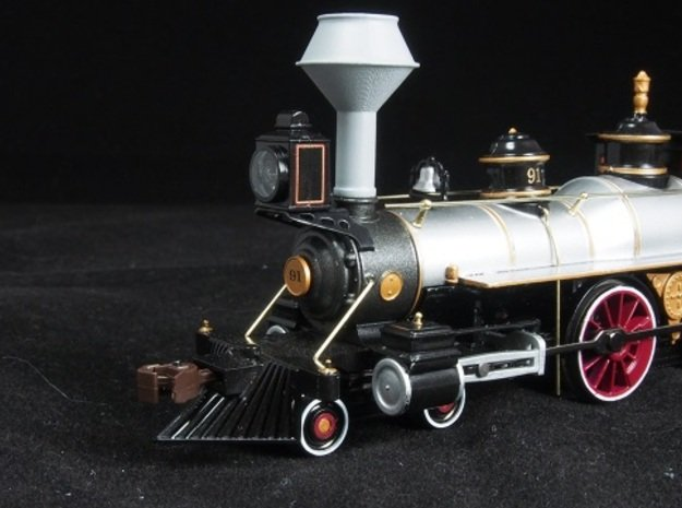 HO scale old time locomotive smokestack set 2 in Smoothest Fine Detail Plastic