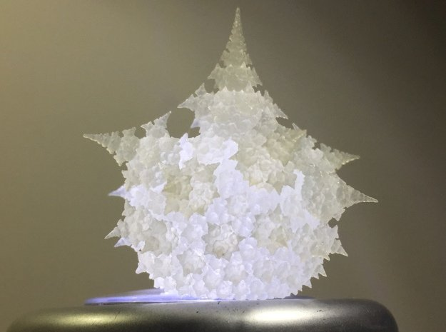 Amazing Fractal Bulb - Frosted Ultra Detail in Smooth Fine Detail Plastic