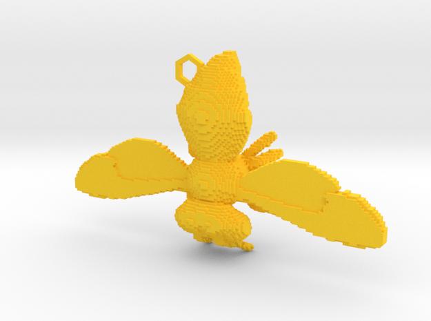 Lrg. Step Temple  in Yellow Processed Versatile Plastic