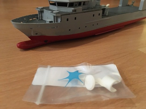 Rmah (A61), Propulsion & Steering Function (1:200) in White Processed Versatile Plastic