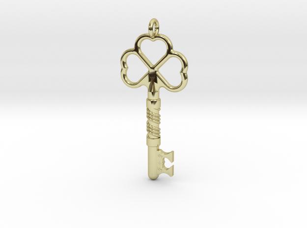 Love Key in 18k Gold Plated Brass