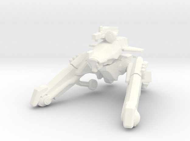 Dorgas Type-D mech, wheeled roller variant 15mm sc in White Processed Versatile Plastic
