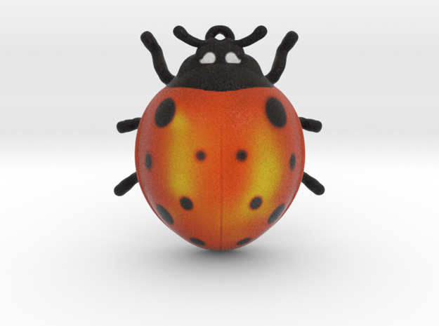 Lady Bug 1 inch height  in Full Color Sandstone